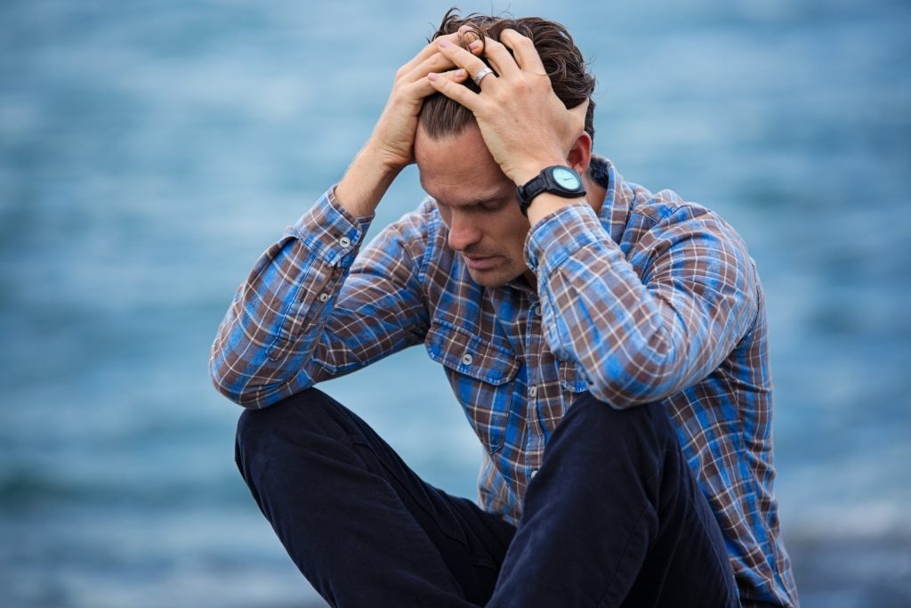 Man suffering from occupational stress
